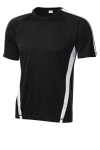 Black White Sport-Tek Colorblock Competitor Tee as seen from the front