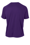 Purple White Sport-Tek Colorblock Competitor Tee as seen from the back