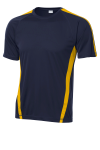 Tr Navy Gold Sport-Tek Colorblock Competitor Tee as seen from the front