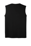 Black Sport-Tek Sleeveless Competitor Tee as seen from the back