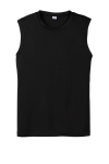 Black Sport-Tek Sleeveless Competitor Tee as seen from the front