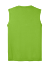 Lime Shock Sport-Tek Sleeveless Competitor Tee as seen from the back