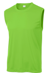 Lime Shock Sport-Tek Sleeveless Competitor Tee as seen from the front
