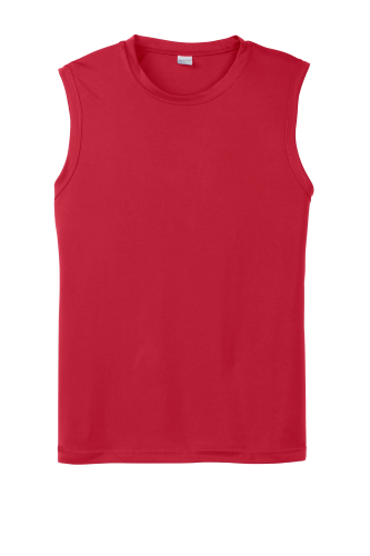 True Red Sport-Tek Sleeveless Competitor Tee as seen from the front