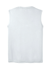 White Sport-Tek Sleeveless Competitor Tee as seen from the back