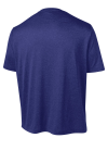 Cobalt Hthr Sport-Tek Heather Contender Tee as seen from the back