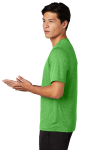 Turf Grn Hthr Sport-Tek Heather Contender Tee as seen from the sleeveleft