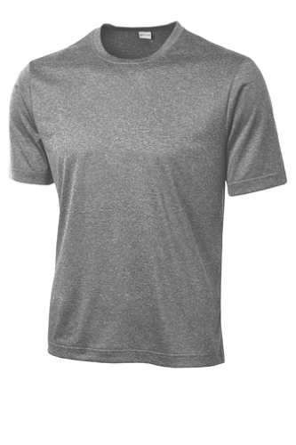 Vintage Hthr Sport-Tek Heather Contender Tee as seen from the front