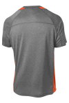 Vtghthr Dp Org Sport-Tek Heather Colorblock Contender Tee as seen from the back