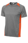 Vtghthr Dp Org Sport-Tek Heather Colorblock Contender Tee as seen from the front