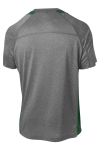 Vtghthr For Gn Sport-Tek Heather Colorblock Contender Tee as seen from the back