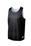Black Wh Sport-Tek PosiCharge Classic Mesh Reversible Tank as seen from the front