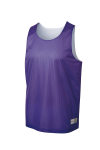 Purple Wh Sport-Tek PosiCharge Classic Mesh Reversible Tank as seen from the front
