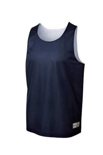 True Navy Wh Sport-Tek PosiCharge Classic Mesh Reversible Tank as seen from the front