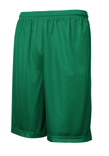Kelly Green Sport-Tek PosiCharge Classic Mesh ™ Short as seen from the front