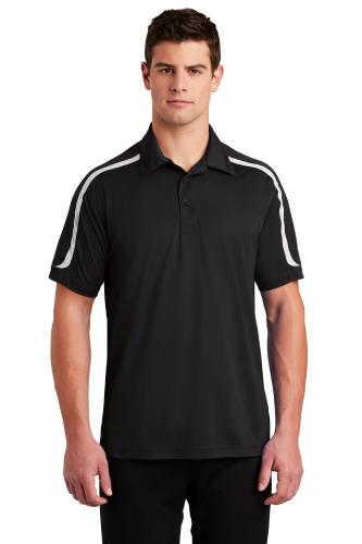 Sport-Tek Tricolor Shoulder Micropique Sport-Wick Polo