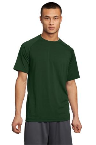 Forest Green Sport-Tek Ultimate Performance Crew as seen from the front