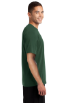 Forest Green Sport-Tek Ultimate Performance Crew as seen from the sleeveleft