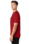 True Red Sport-Tek Ultimate Performance Crew as seen from the sleeveleft