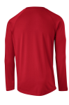 True Red Sport-Tek  Long Sleeve Ultimate Performance Crew as seen from the back