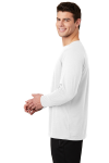 White Sport-Tek  Long Sleeve Ultimate Performance Crew as seen from the sleeveleft