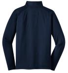 True Navy Sport-Tek Sport-Wick Stretch 1/2-Zip Pullover as seen from the back