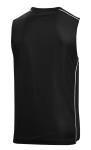 Black White Sport-Tek PosiCharge Mesh Reversible Sleeveless Tee as seen from the back
