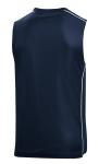 True Navy Wht Sport-Tek PosiCharge Mesh Reversible Sleeveless Tee as seen from the back