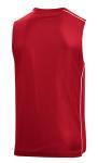 True Red White Sport-Tek PosiCharge Mesh Reversible Sleeveless Tee as seen from the back