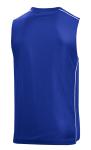 True Royal Wht Sport-Tek PosiCharge Mesh Reversible Sleeveless Tee as seen from the back