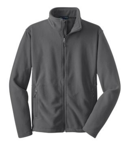 Iron Grey Port Authority Tall Value Fleece Jacket as seen from the front