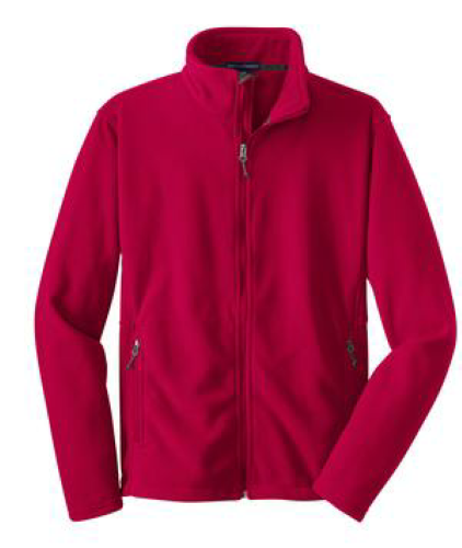 True Red Port Authority Tall Value Fleece Jacket as seen from the front
