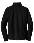 Black Port Authority Tall Value Fleece 1/4-Zip Pullover as seen from the back