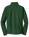 Forest Green Port Authority Tall Value Fleece 1/4-Zip Pullover as seen from the back