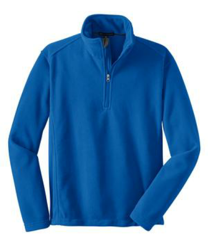 True Royal Port Authority Tall Value Fleece 1/4-Zip Pullover as seen from the front
