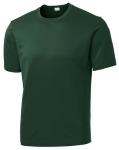 Forest Green Sport-Tek Tall Competitor Tee as seen from the front