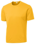 Gold Sport-Tek Tall Competitor Tee as seen from the front