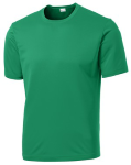 Kelly Green Sport-Tek Tall Competitor Tee as seen from the front