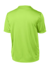Lime Shock Sport-Tek Tall Competitor Tee as seen from the back