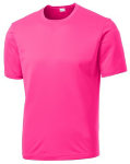 Neon Pink Sport-Tek Tall Competitor Tee as seen from the front