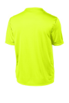 Neon Yellow Sport-Tek Tall Competitor Tee as seen from the back