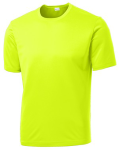 Neon Yellow Sport-Tek Tall Competitor Tee as seen from the front