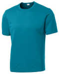 Tropic Blue Sport-Tek Tall Competitor Tee as seen from the front