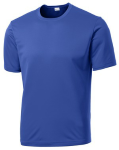 True Royal Sport-Tek Tall Competitor Tee as seen from the front