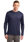 True Navy Sport-Tek Tall Long Sleeve Competitor Tee as seen from the front