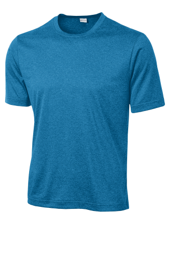 Blue Wake Hthr Sport-Tek Tall Heather Contender Tee as seen from the front