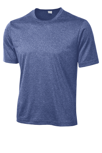 Tr Royal Hthr Sport-Tek Tall Heather Contender Tee as seen from the front