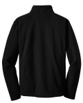 Black Port Authority Youth Value Fleece Jacket as seen from the back