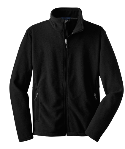 Black Port Authority Youth Value Fleece Jacket as seen from the front