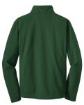 Forest Green Port Authority Youth Value Fleece Jacket as seen from the back